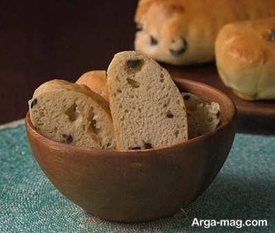 نان زیتون خوش طعم