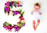 دیزاین ماهگرد نوزاد از 1 تا 12 ماهگی