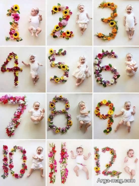 الگوهایی جالب از دیزاین ماهگرد نوزاد