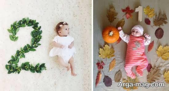 تزیینات زیبا و منحصر به فرد ماهگرد نوزاد