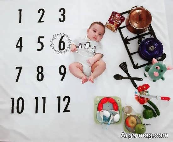 انواع طرح های منحصر به فرد تزیین ماهگرد نوزاد