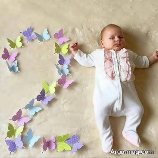 ایده های زیبا و جذاب تزیین ماهگرد نوزاد