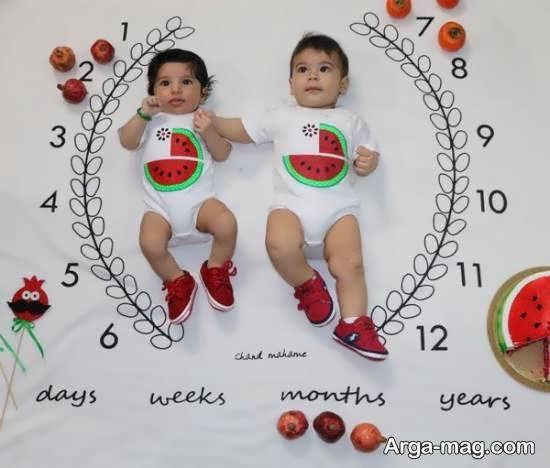 انواع نمونه های طراحی ماهگرد نوزاد