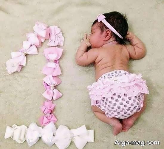 تزیینات شیک و بی نهایت زیبای ماهگرد نوزاد