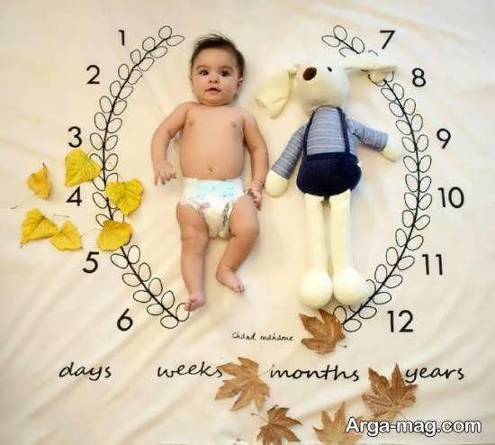 ایده هایی بینظیر از طراحی ماهگرد نوزاد