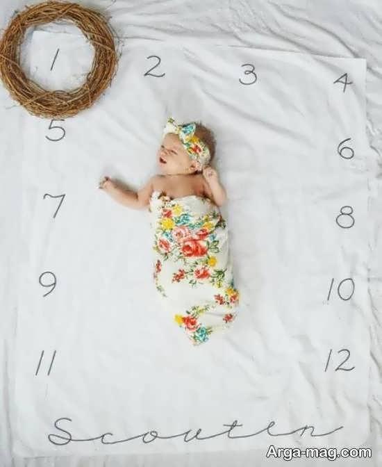 انواع الگوهای شیک و خواستنی تزیین ماهگرد نوزاد
