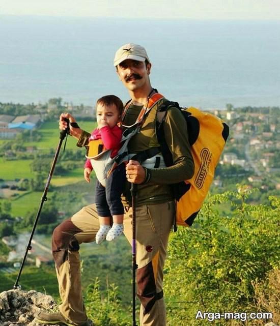 نمونه آغوشی نوزاد برای کوه نوردی
