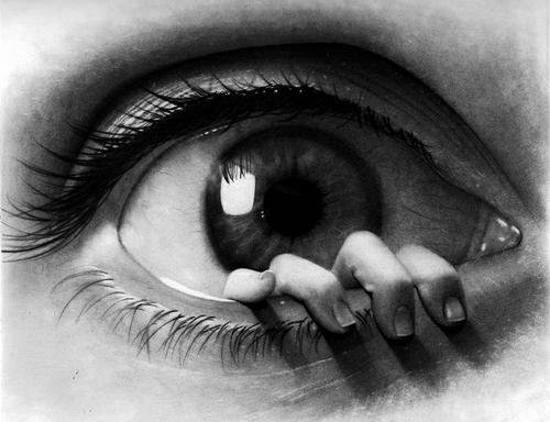 تصویر پروفایل چشم سیاه سفید