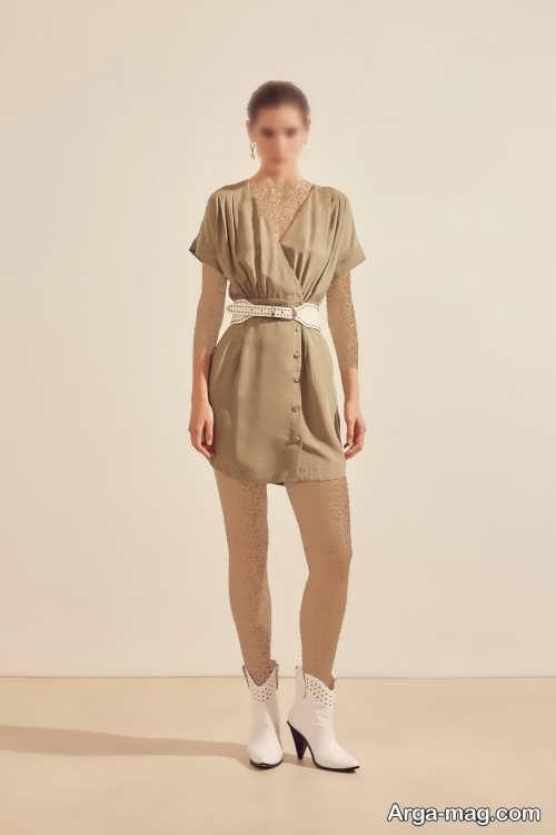 مدل لباس دکمه دار زنانه
