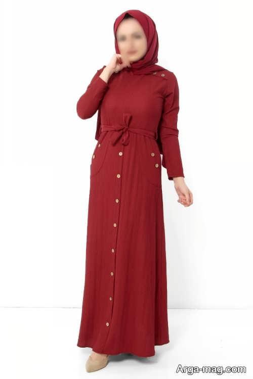 طرح لباس زنانه دکمه دار