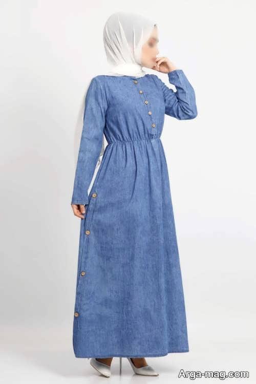 لباس بلند دکمه دار
