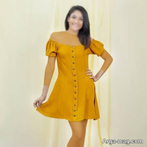لباس کوتاه دکمه دار