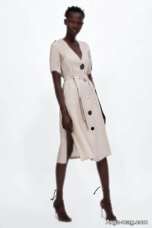لباس دکمه دار بلند