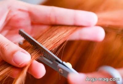 کوتاه کردن نوک موها