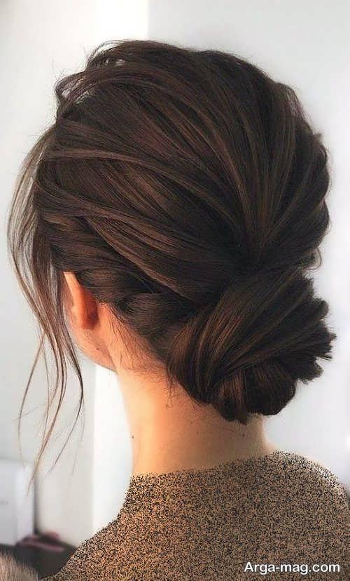 مدل آرایش موی قهوه ای