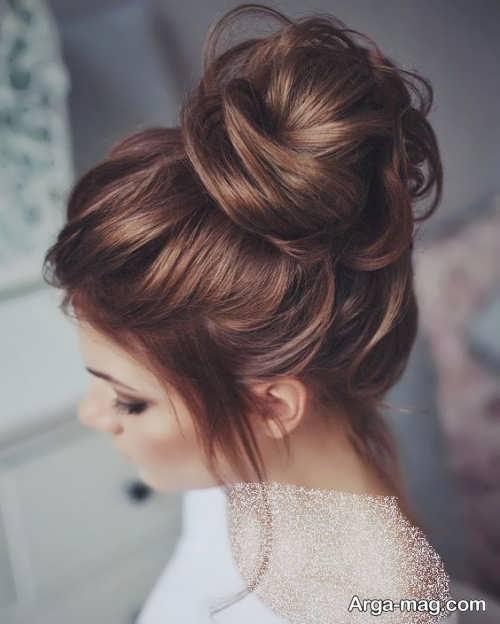 شینیون مو قهوه ای و زیبا