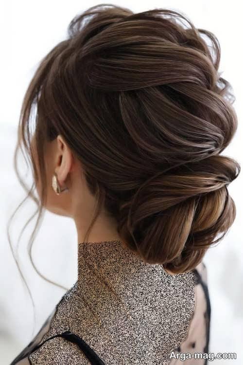 آرایش موی شیک قهوه ای