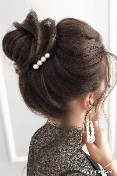 شینیون موی قهوه ای زنانه