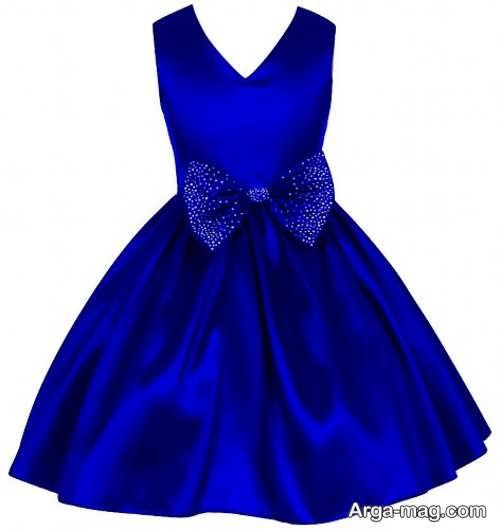 لباس آبی ساتن
