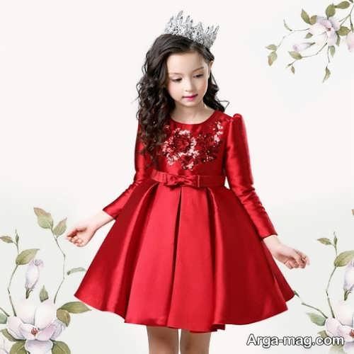 مدل لباس قرمز ساتن