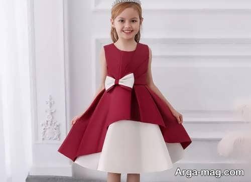 لباس دو رنگ ساتن