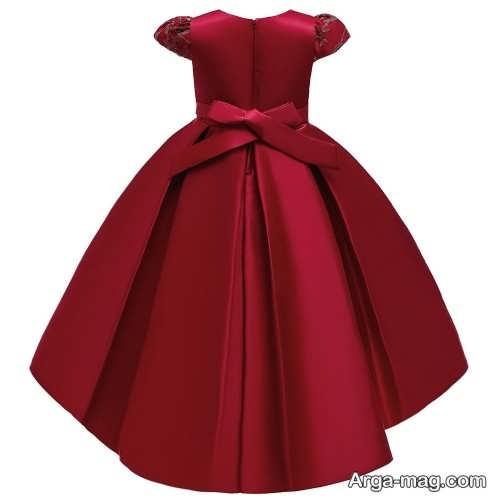 لباس زرشکی ساتن