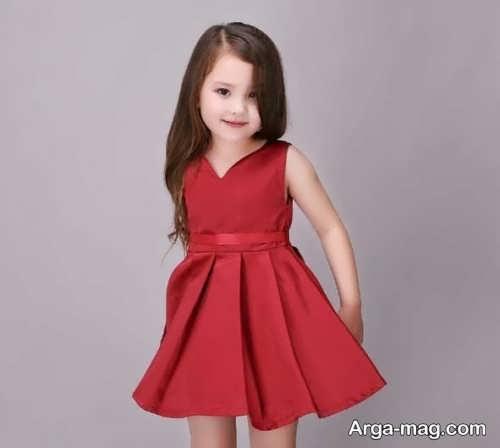 طرح لباس ساتن مخصوص برای کودک