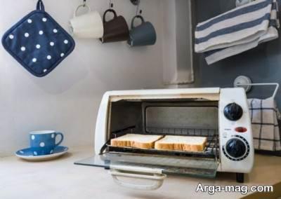 پاک کردن توستر با سرکه و آب
