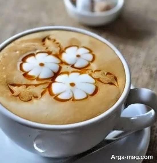 تزیین قهوه به شکل های متفاوت قلب، گل و ...