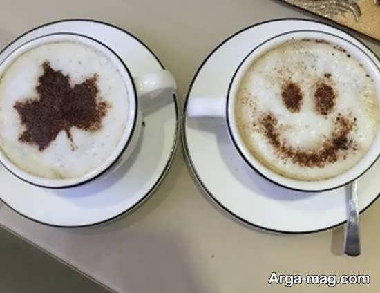 طرح هایی متفاوت و شیک از تزیینات قهوه