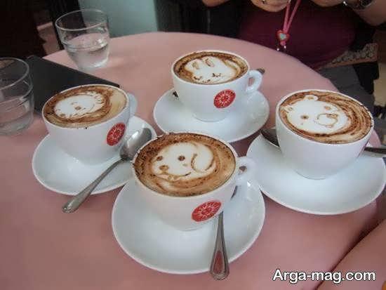 نمونه های ایده آل و ناب از تزیین قهوه