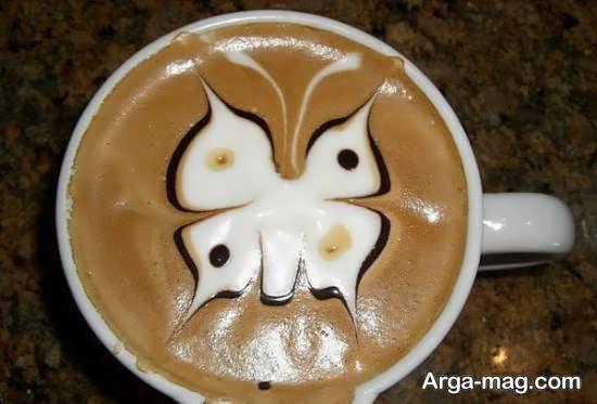 نمونه هایی متفاوت از تزیین قهوه