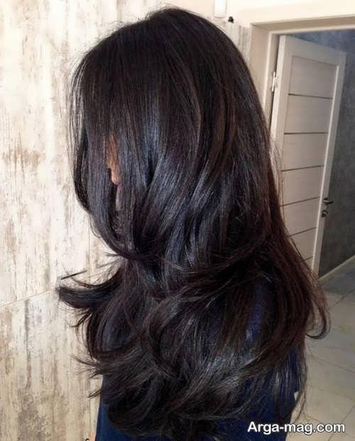 رنگ مو شکلاتی زیبا
