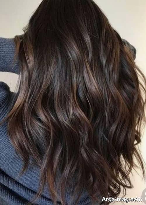رنگ مو زیبا شکلاتی