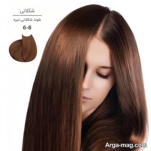 رنگ مو بلوند شکلاتی