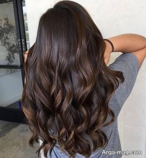 مدل رنگ مو شکلاتی تیره