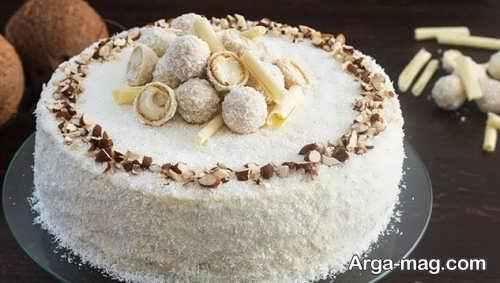 تزیین کیک با پودر نارگیل به کمک روش های جالب