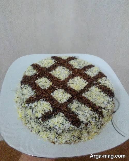 مدل تزیینات کیک با پودر نارگیل