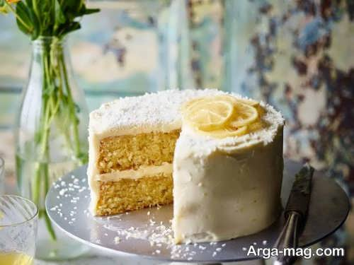 دیزاین کیک با پودر نارگیل