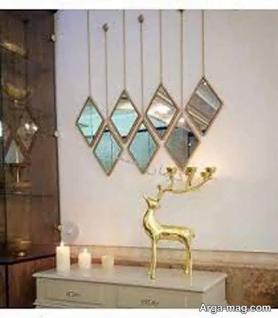 الگوهایی زیبا و خارق العاده از دیزاین دیوار با آینه