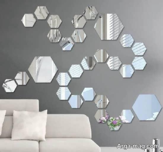 نمونه هایی دوست داشتنی ازتزیین دیوار با آینه