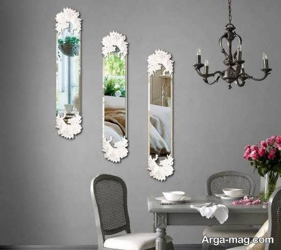 تزیینات زیبا و شیک دیوار با آینه