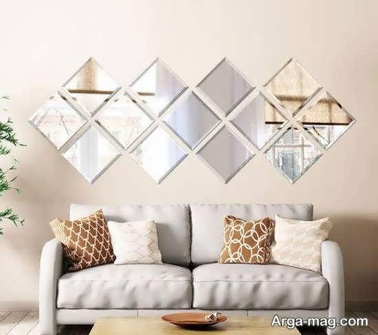 ایده هایی شیک از تزیین دیوار با آینه