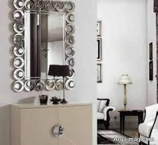 ایده هایی زیبا برای طراحی دیوار با آینه