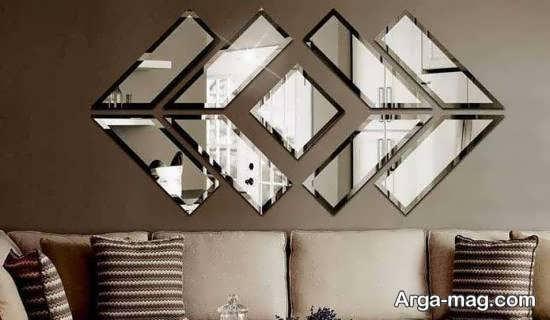 تزیین دیوار با استفاده از آینه