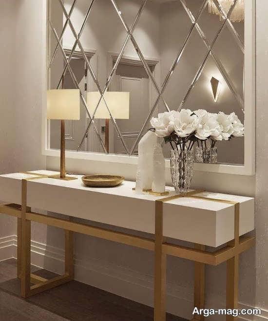 انواع نمونه های زیبا و شیک تزیین دیوار با آینه