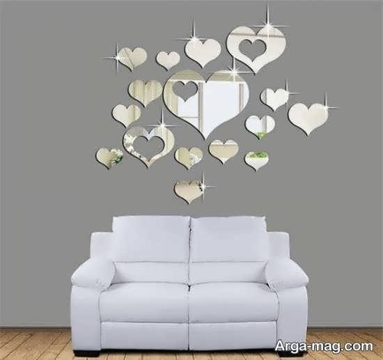 طرح های زیبایی از دیزاین دیوار با آینه