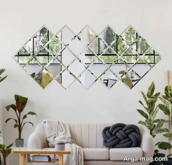 تزیینات خاص و خار ق العاده دیوار با آینه