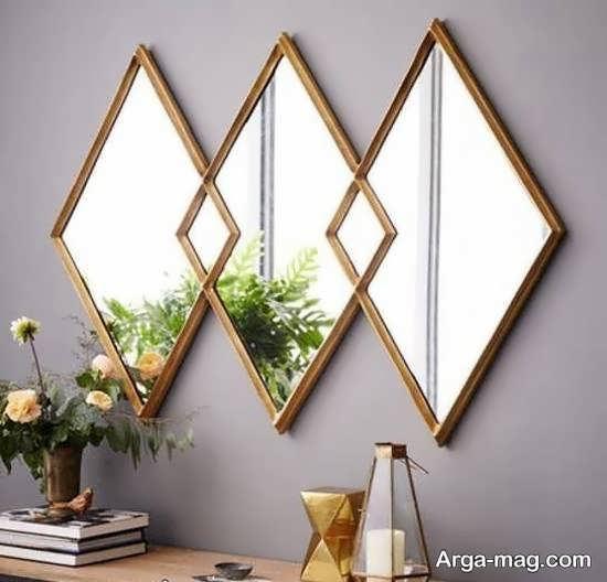 الگوهایی زیبا و کاربردی از دیزاین دیوار با آینه