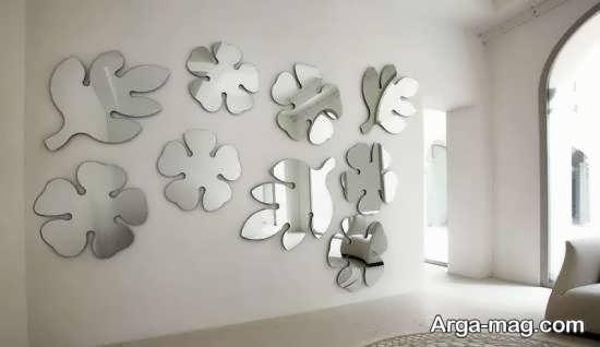 نمونه هایی دوست داشتنی از تزیین دیوار با آینه